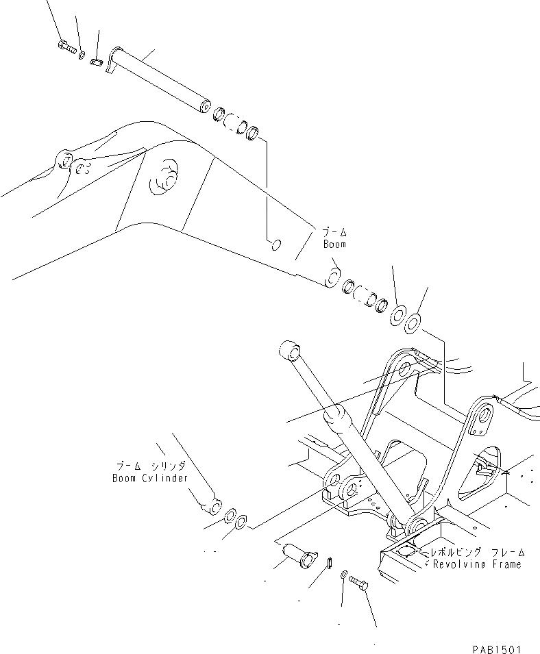 208-70-61210 Komatsu Палец
