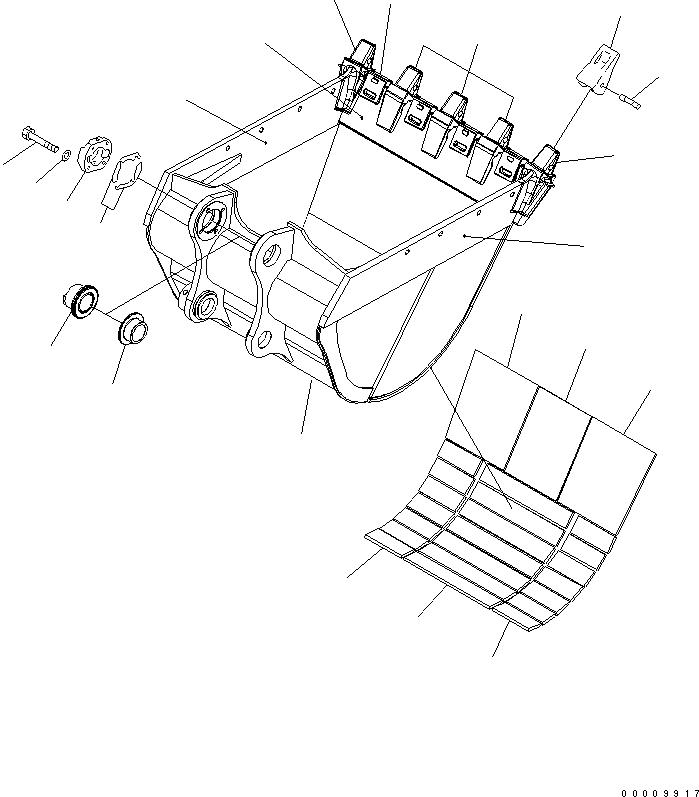 207-934-6160 Komatsu ЗАЩИТНАЯ ПЛАСТИНА КОВША