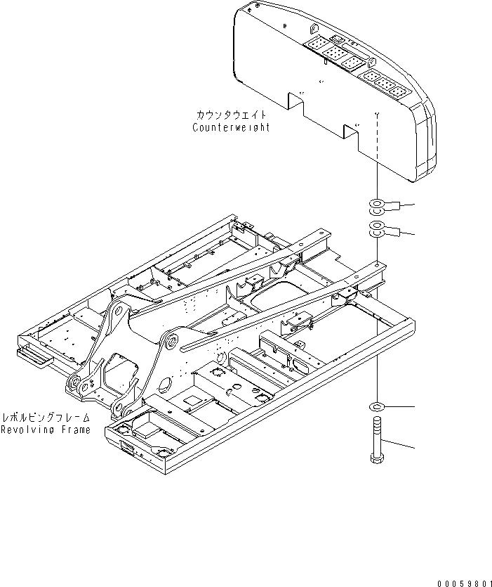 208-46-74121 Komatsu БОЛТ