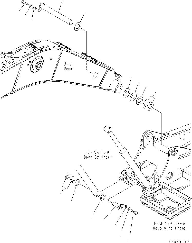 208-70-71590 Komatsu ПАЛЕЦ