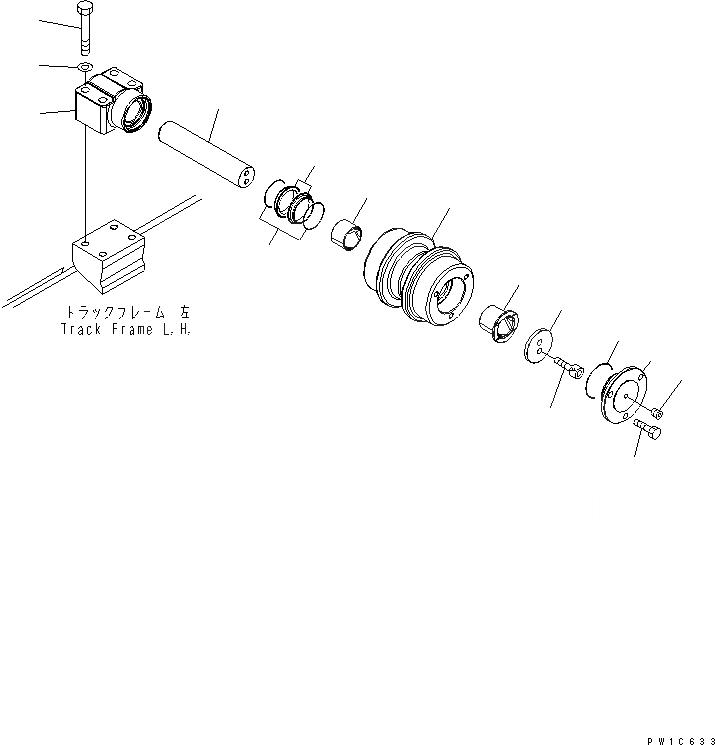 208-30-00431 Komatsu Каток поддерживающий