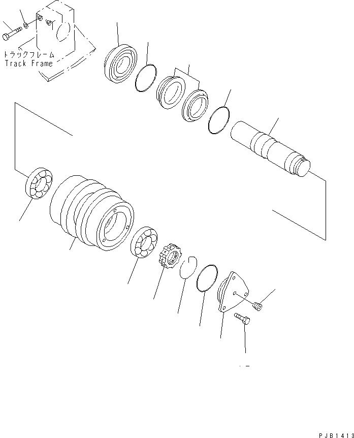 208-30-00340 Komatsu ОПОРНЫЙ РОЛИК