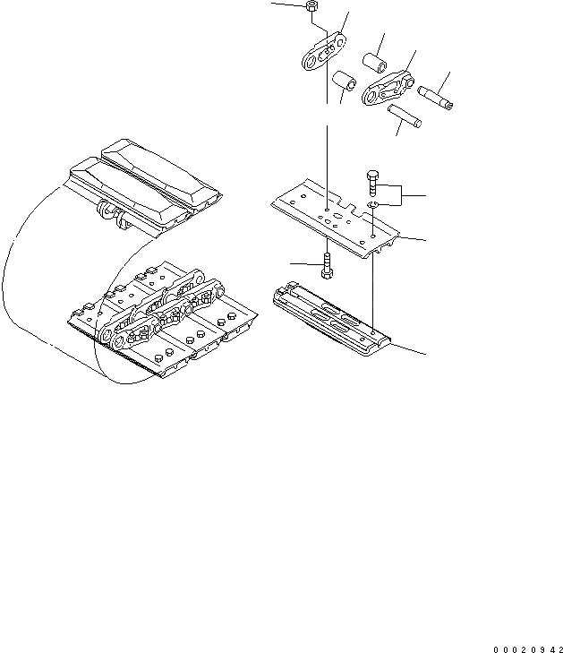 22M-32-01110 Komatsu БАШМАК ГУСЕНИЦЫ В СБОРЕ