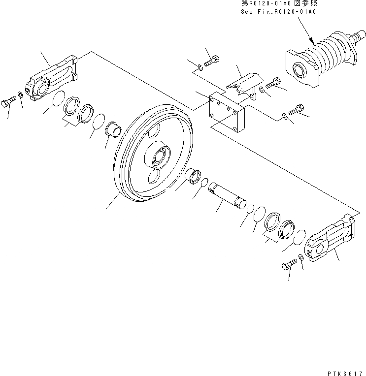 20T-30-00260 Komatsu КАТОК