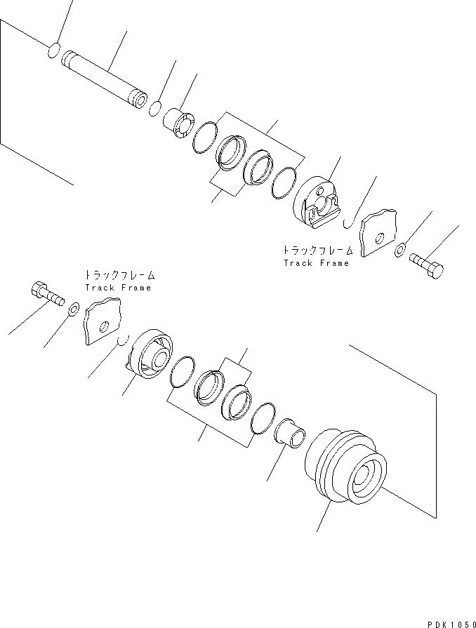 20T-30-00173 Komatsu ОПОРНЫЙ КАТОК В СБОРЕ