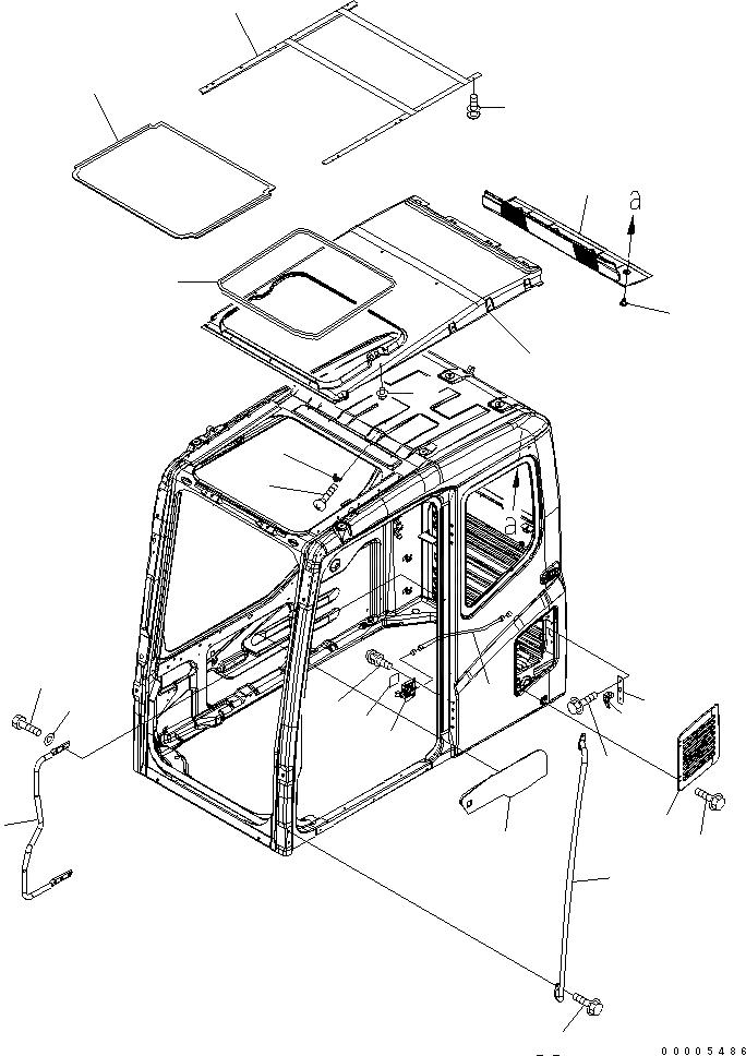 209-54-00511 Komatsu КАБИНА В СБОРЕ