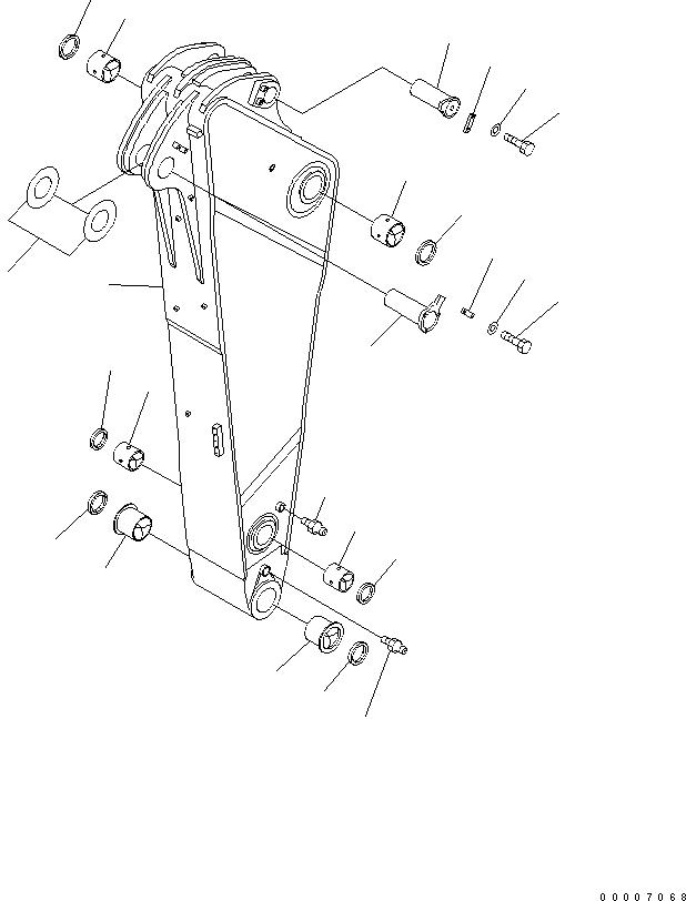 209-70-00221 Komatsu РУКОЯТЬ В СБОРЕ