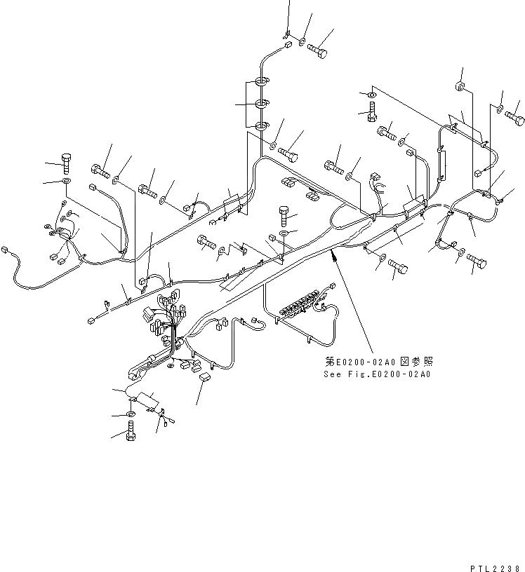20Y-06-K2271 Komatsu ЭЛЕКТРОПРОВОДКА