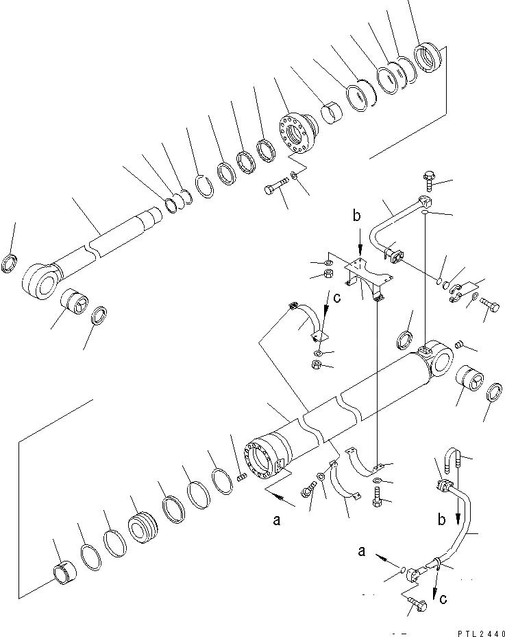 209-63-02550 Komatsu ЦИЛИНДР В СБОРЕ
