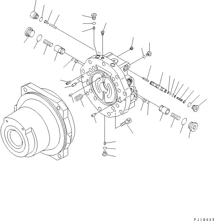 KBB044A-51158 Komatsu НАБОР УПЛОТНЕНИЙ