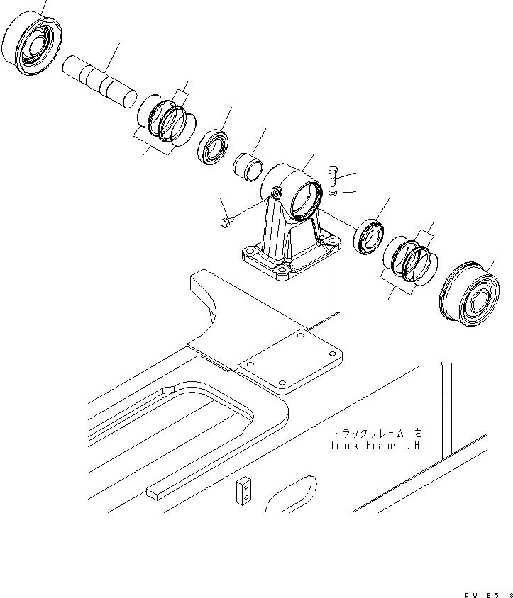 209-30-00300 Komatsu ПОДДЕРЖИВАЮЩИЙ КАТОК В СБОРЕ