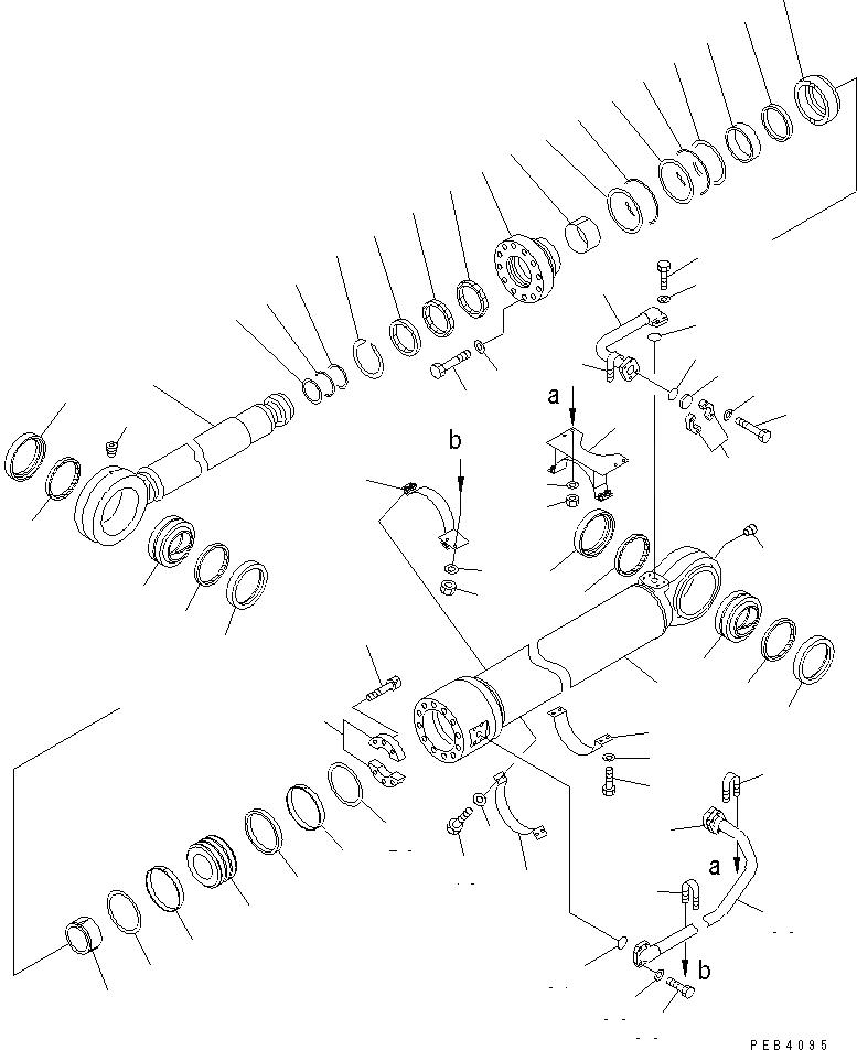 209-63-02341 Komatsu ЦИЛИНДР В СБОРЕ