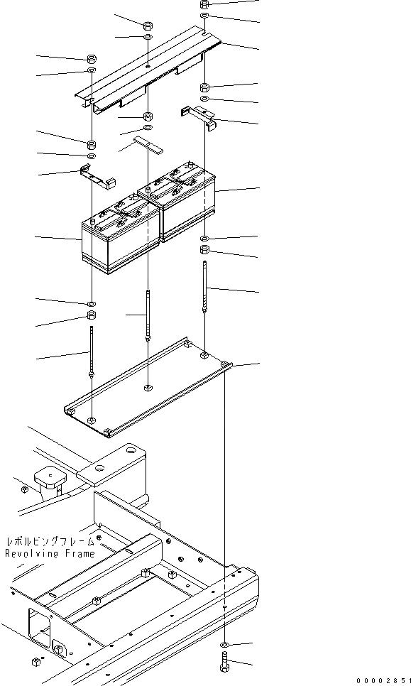 20E-06-H4110 Komatsu БАТАРЕЯ