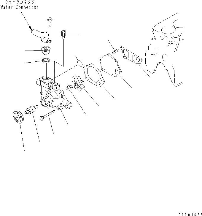 600-421-6230 Komatsu ТЕРМОСТАТ