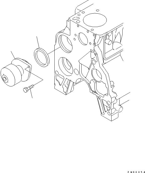 6736-61-1520 Komatsu Уплотнение