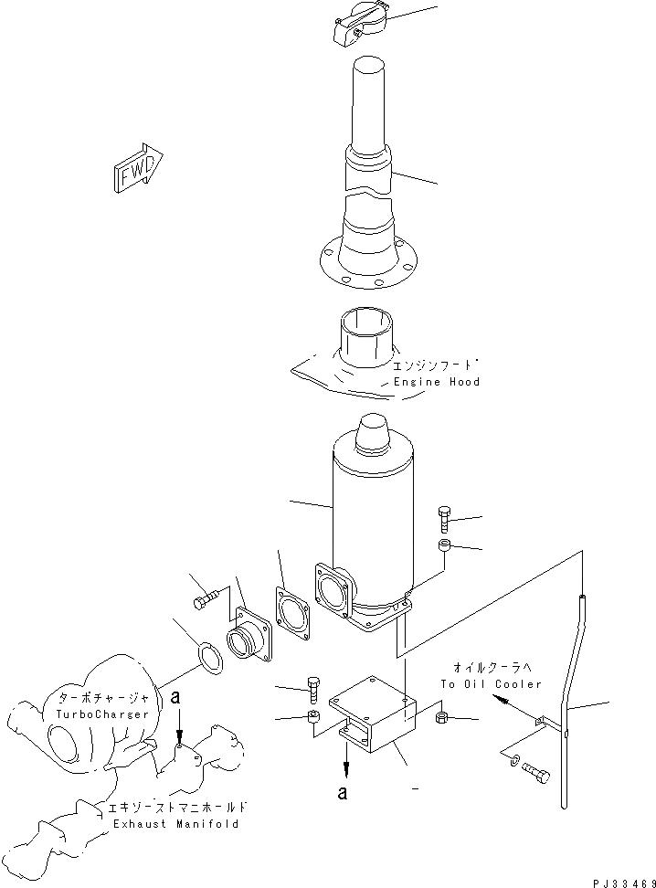 6151-11-5280 Komatsu Кольцо от турбокомпрессора к