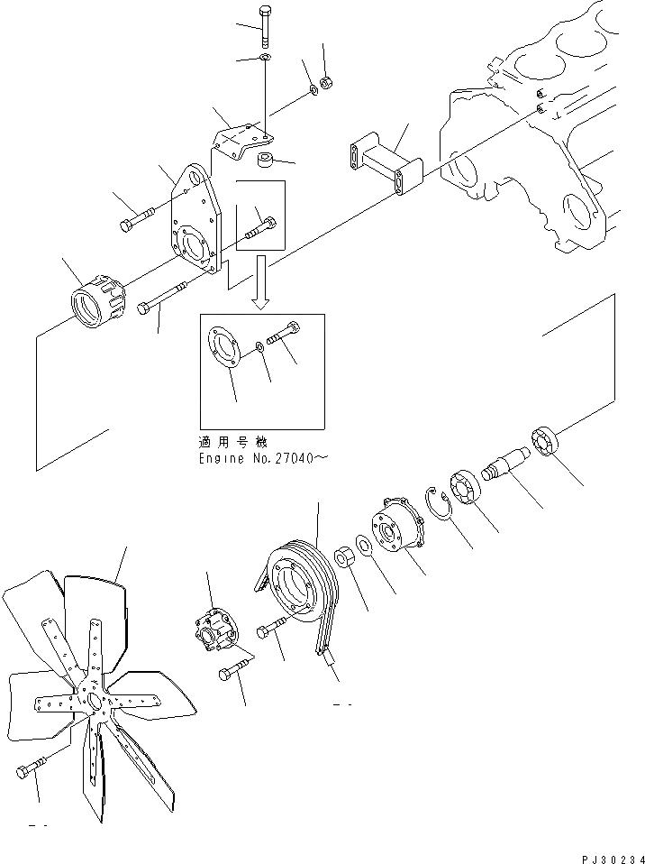 04121-22268 Komatsu РЕМЕНЬ