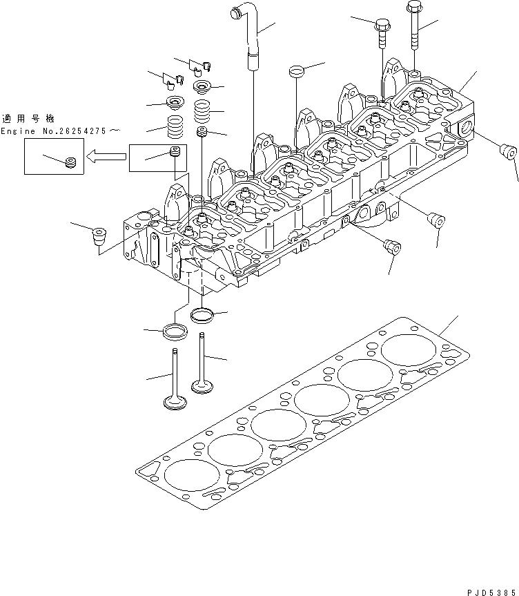 6732-41-4430 Komatsu Пружина