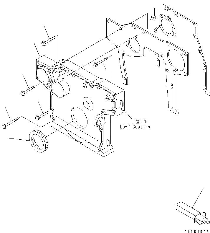 6204-21-3530 Komatsu Сальник