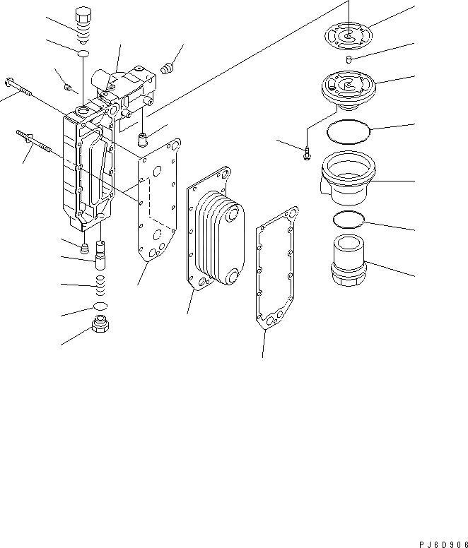 6742-01-1080 Komatsu Прокладка