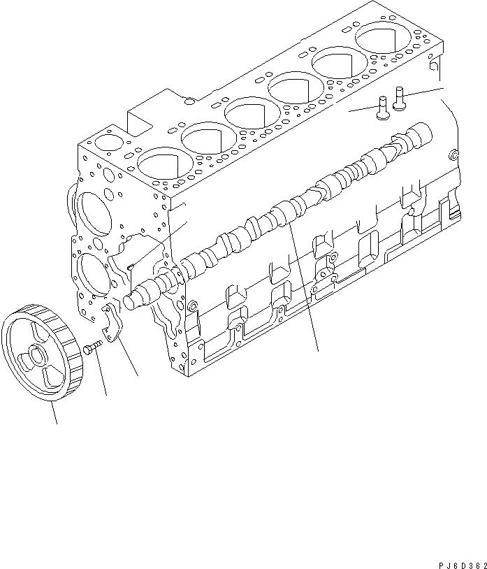 6732-41-1220 Komatsu ОПОРА / СУППОРТ