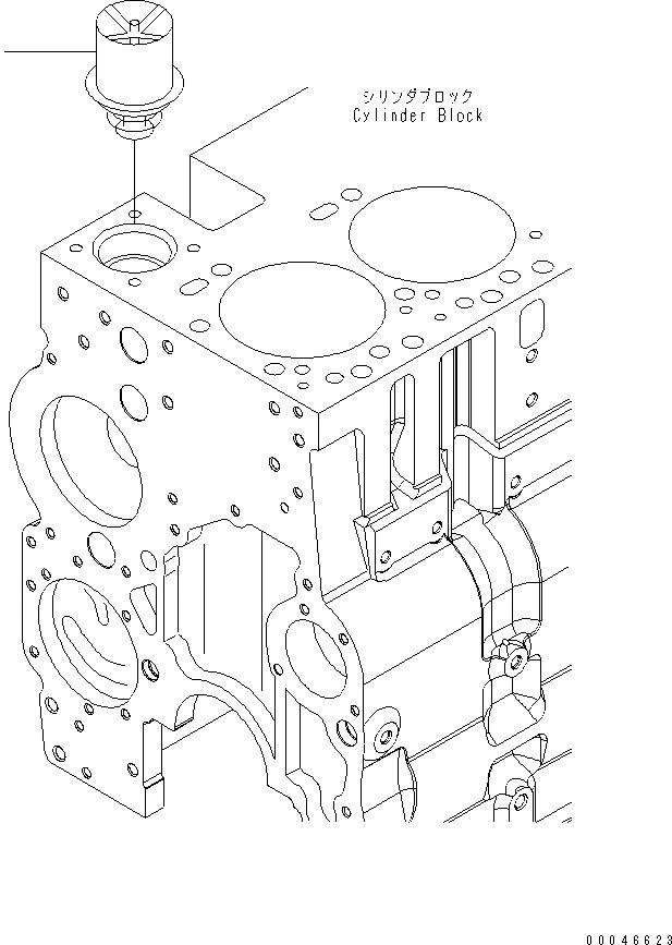 6741-61-1610 Komatsu Термостат