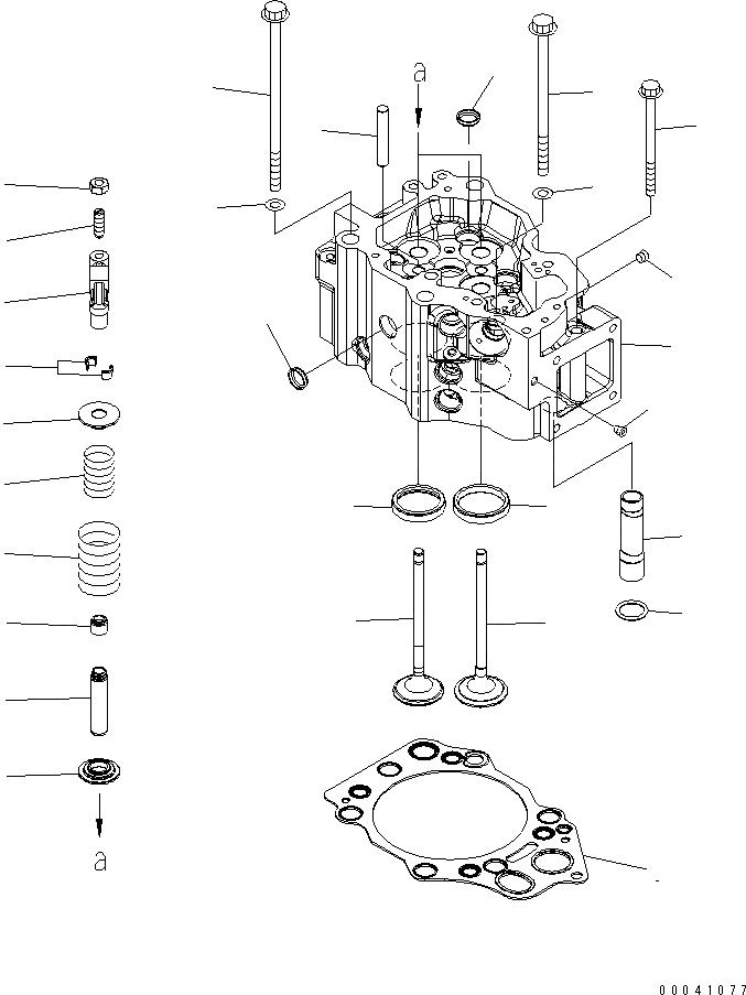 6215-41-4212 Komatsu Клапан выпускной 6215-41-4210