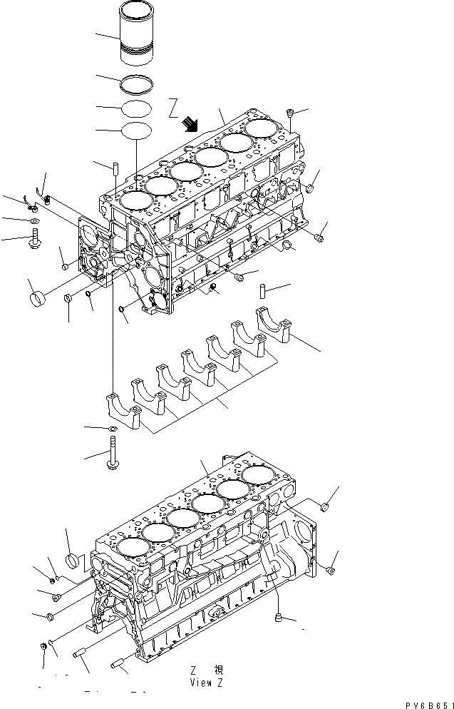 6210-21-1491 Komatsu Втулка распредвала 6210-21-1490