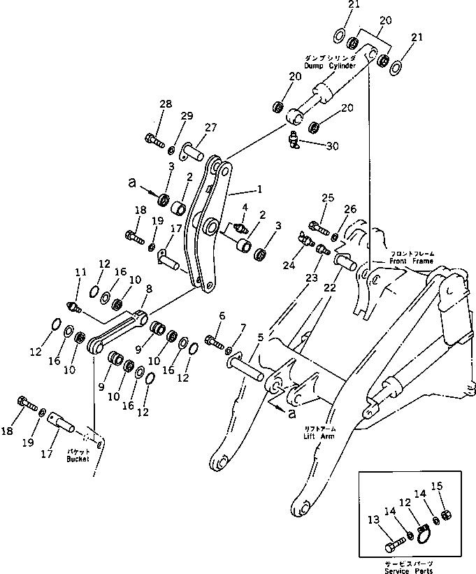 419-70-11960 Komatsu ШТИФТ