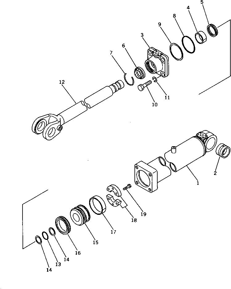 707-40-16170 Komatsu РАСПОРНАЯ ВТУЛКА
