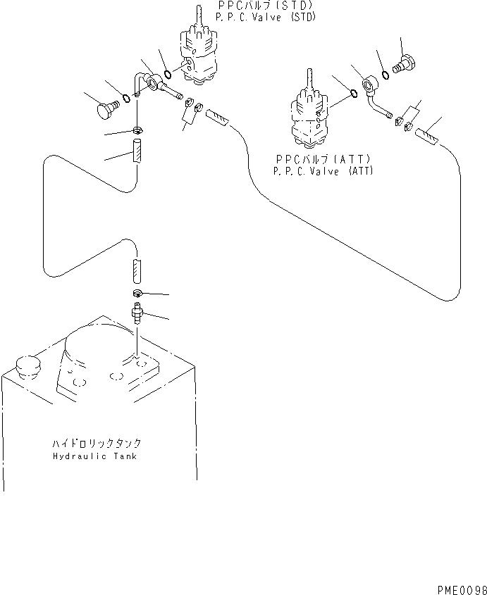 425-62-14170 Komatsu НИППЕЛЬ