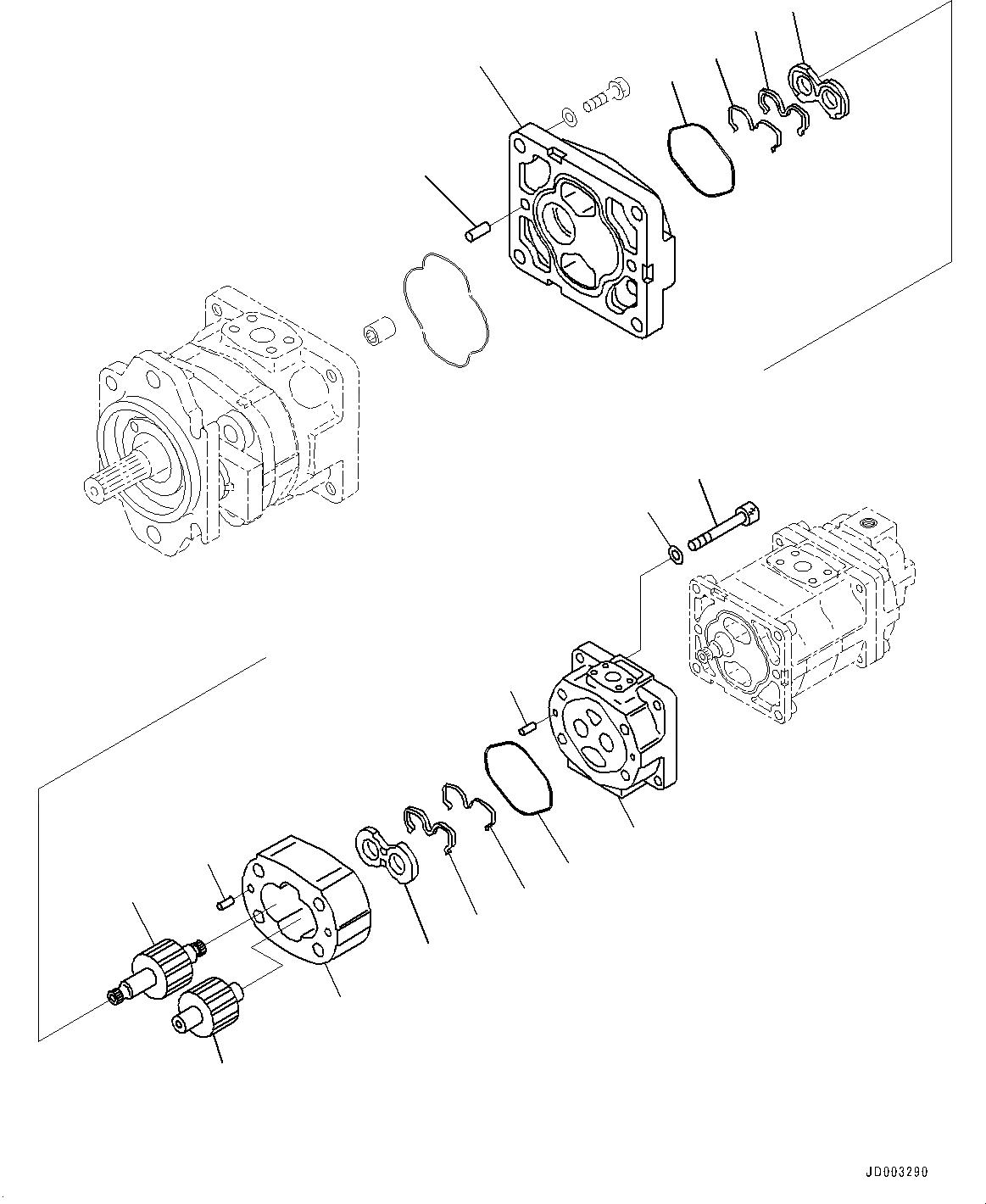 705-17-02353 Komatsu ПОДШИПНИК СКОЛЬЖЕНИЯ ДЛЯ ВАЛОВ