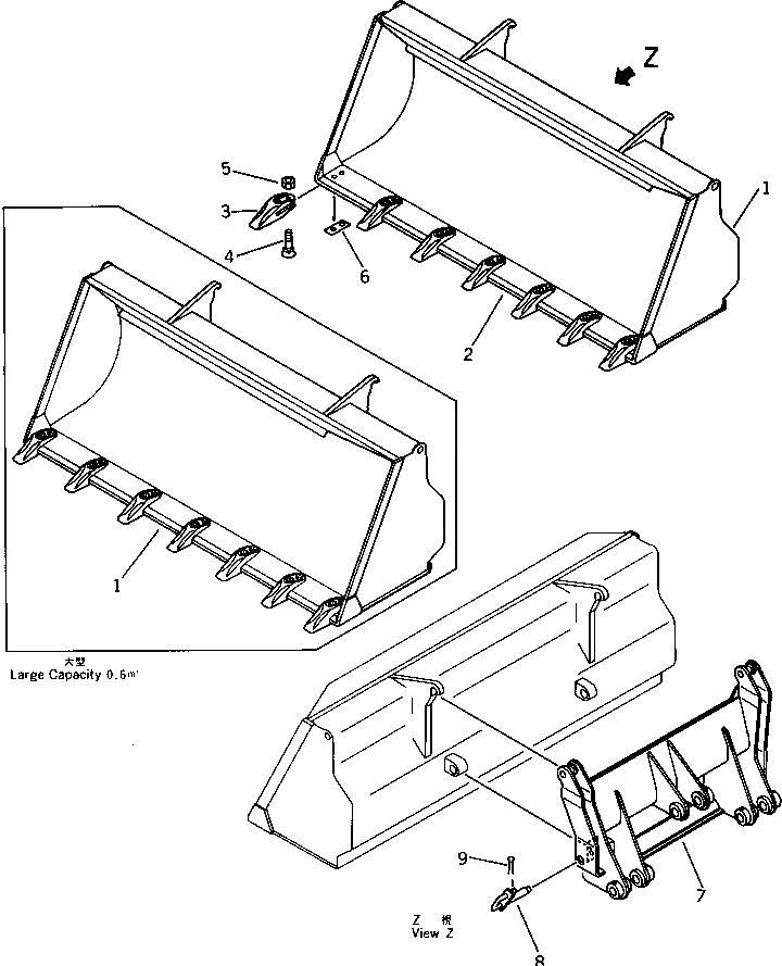 20T-70-13130 Komatsu ЗУБЕЦ КОВША В СБОРЕ