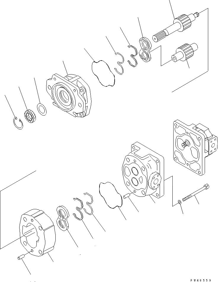 705-52-30550 Komatsu Насос в сборе