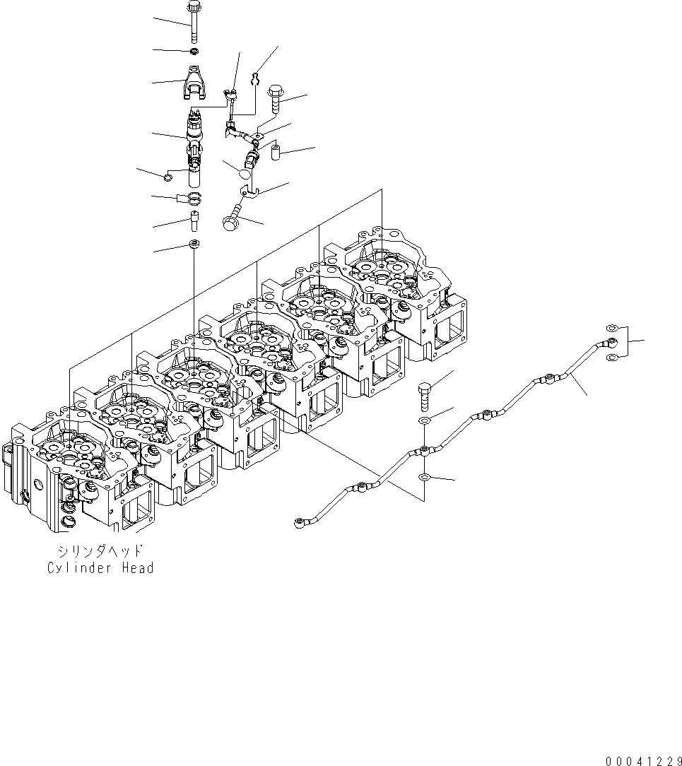 6217-81-9252 Komatsu КОМПЛЕКТ КАБЕЛЕЙ