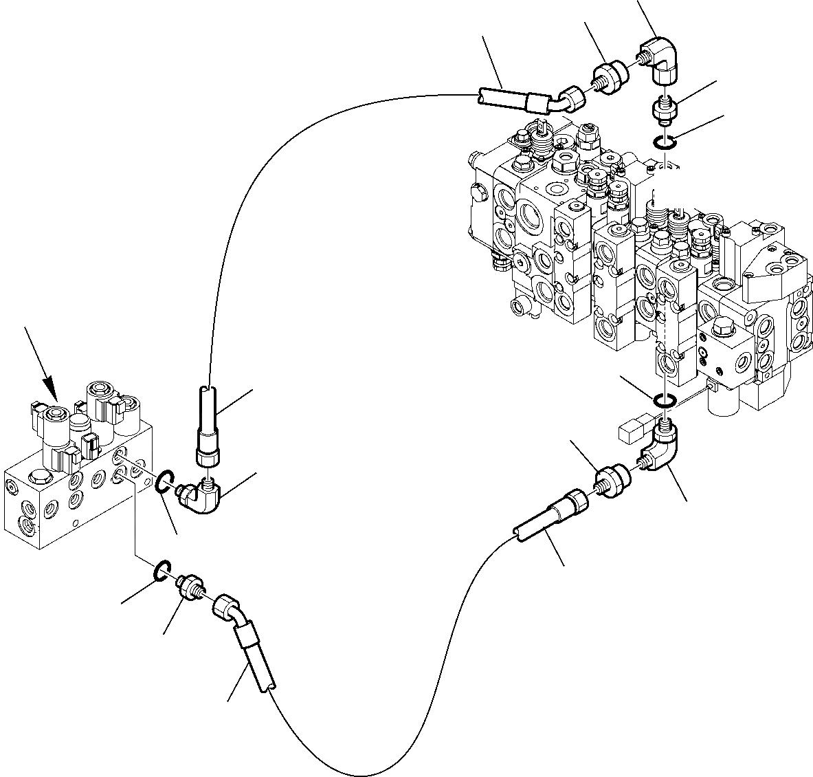 21D-09-51160 Komatsu СОЕДИНЕНИЕ