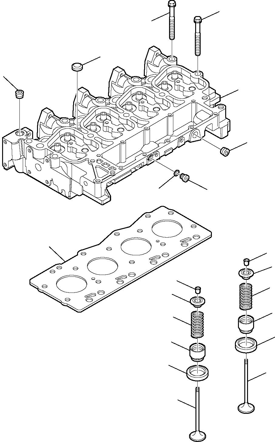 Запчасти для головка цилиндров (aspirated двигатель