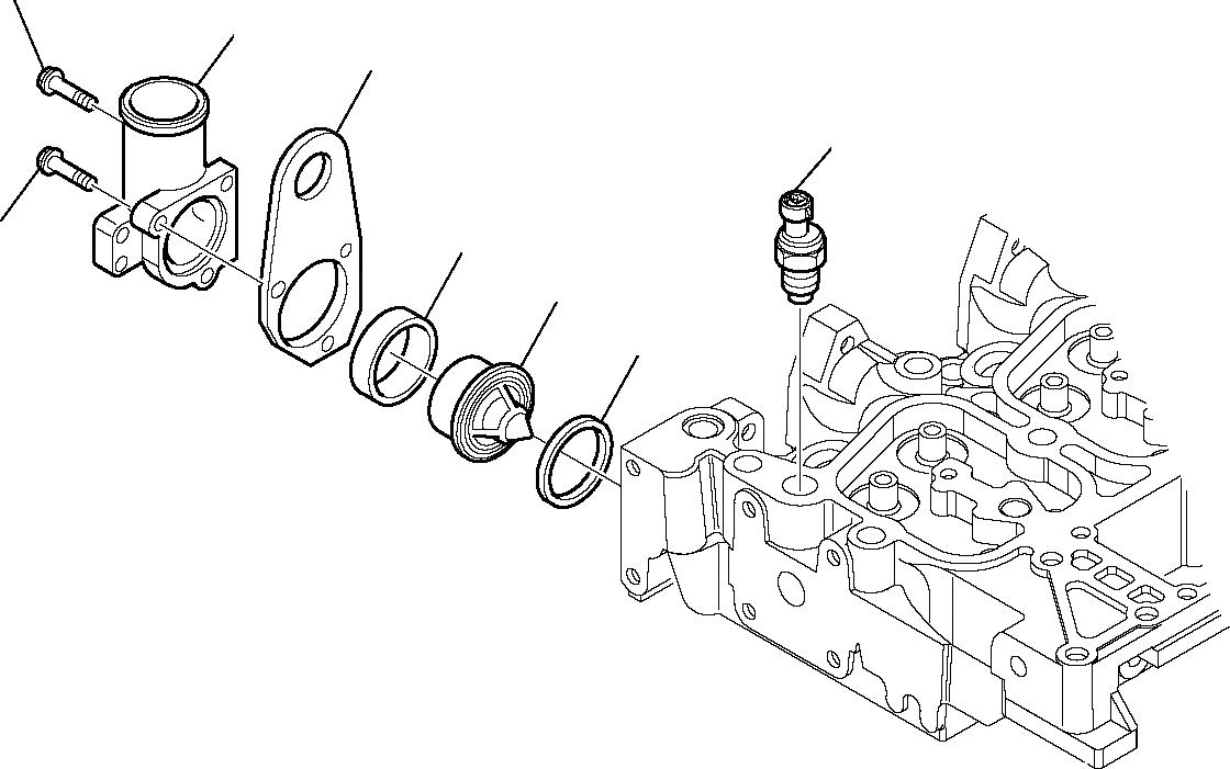 EA504053512 Komatsu ПРОКЛАДКА