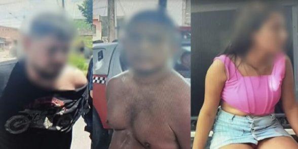 Polícia prende três assaltantes e liberta reféns