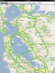 Traffic conditions on iPad