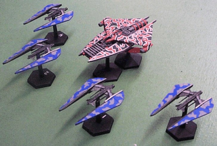 Another jpeg picture of Agents of Gaming Narn fleet miniature.