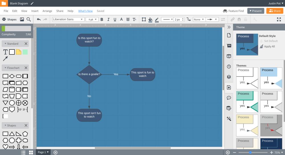medium resolution of best online flowchart software for collaboration lucidchart screenshot