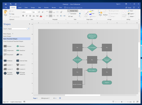 small resolution of microsoft visio screenshott
