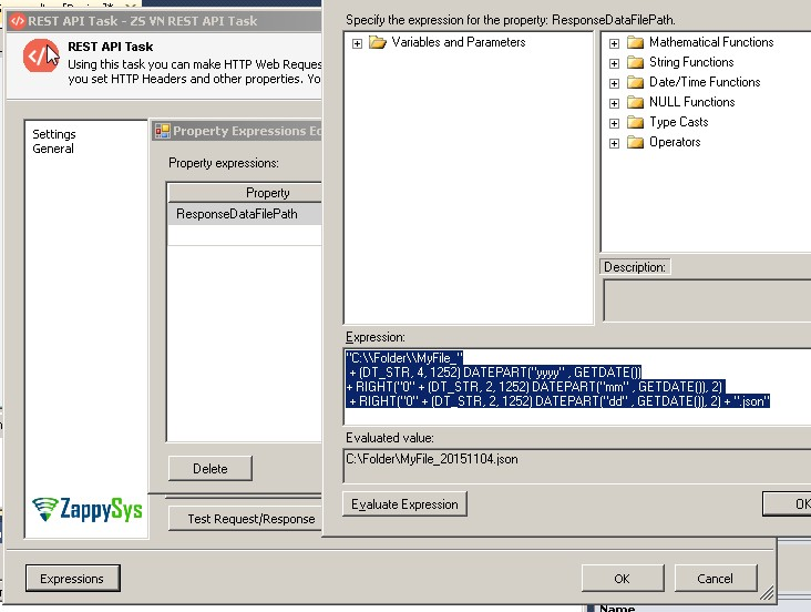 SSIS YYYYMMDD date format using SSIS expression | ZappySys Blog