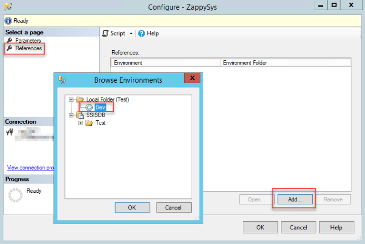 Adding SSIS environment to SSIS Catalog project