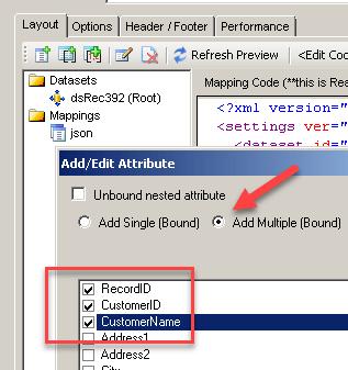 SSIS JSON Generator - Select multiple columns