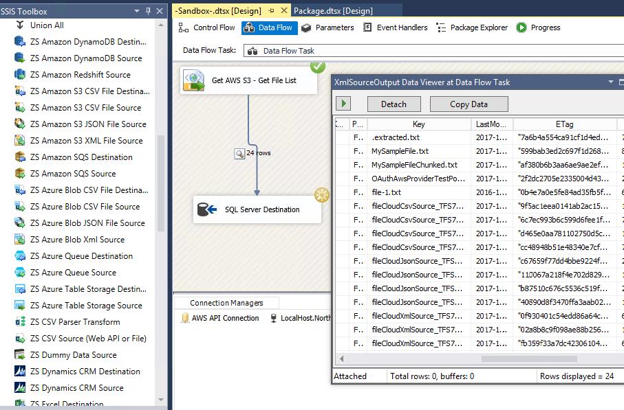 How to call Amazon AWS API using SSIS (EC2, Lambda, API Gateway, SQS
