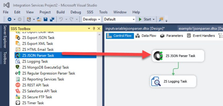 ZS JSON Parser Task in SSIS
