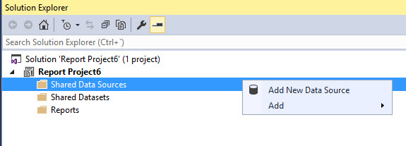 Add REST data source in SSRS
