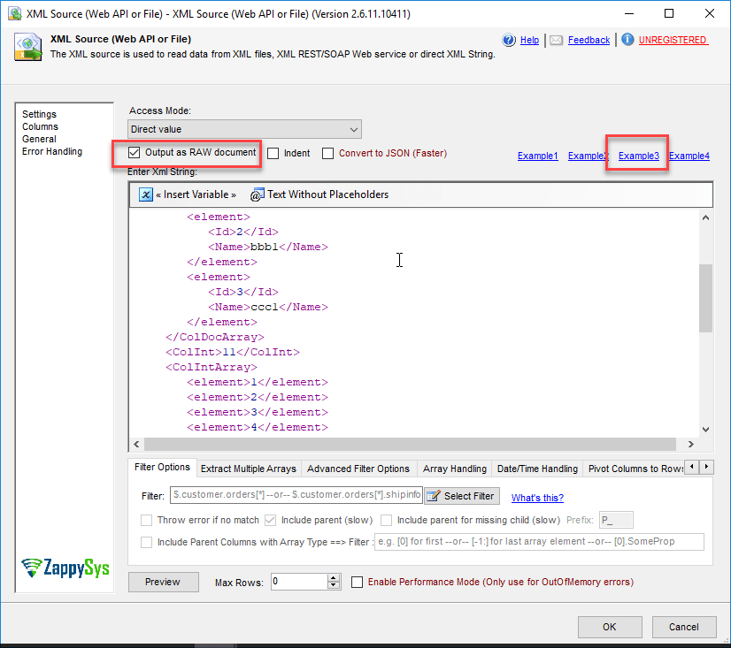 How to Convert XML into JSON using SSIS | ZappySys Blog